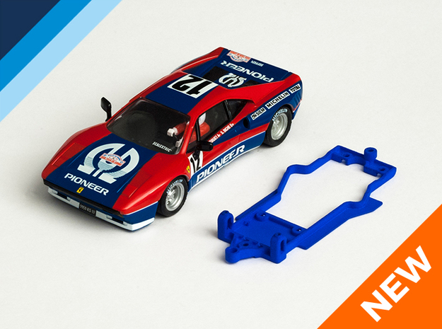 1/32 SCX Ferrari 288 GTO Chassis for Slot.it pod in Blue Strong & Flexible Polished