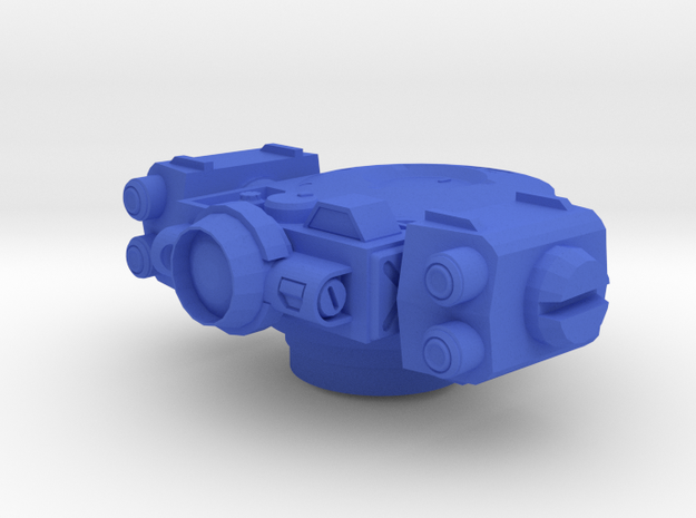 Rocket Turret in Blue Processed Versatile Plastic