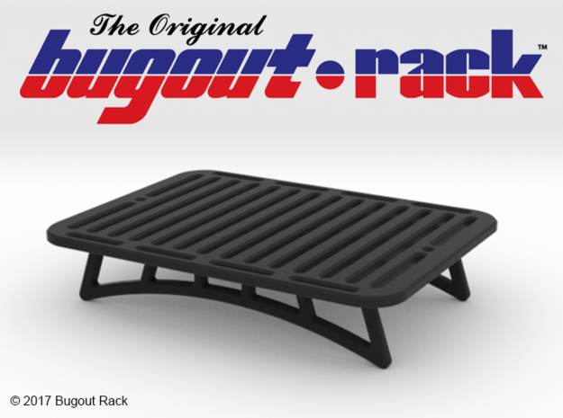 BO10001 Bug Out Rack in Black Strong & Flexible