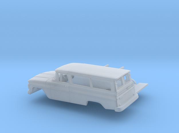 1/87 1962 Chevrolet Suburban Split Doors Kit in Smooth Fine Detail Plastic