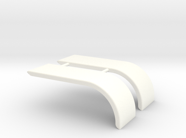 1-25 Fender Skirts 1 in White Processed Versatile Plastic