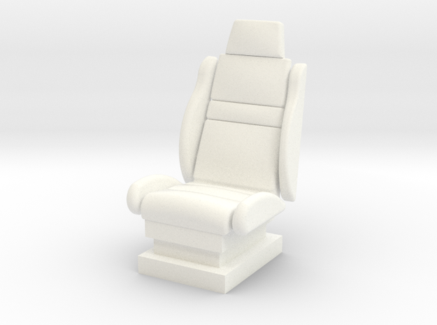 1-25 Seat 1 in White Processed Versatile Plastic