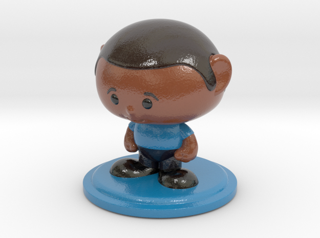 Collectame - Male Blue  in Glossy Full Color Sandstone
