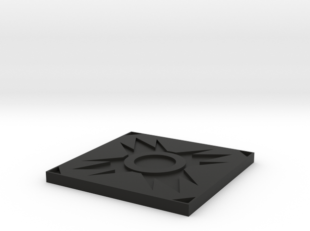 Sith Holo Stand Base in Black Natural Versatile Plastic