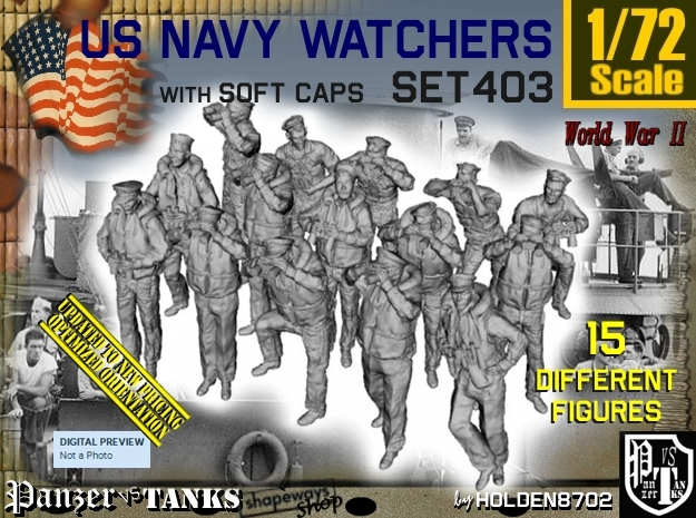 1/72 USN Watchers Set403 in Frosted Ultra Detail