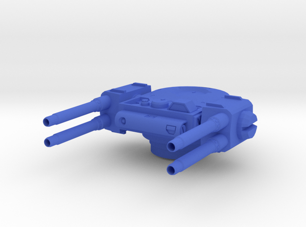 quad_turret in Blue Processed Versatile Plastic
