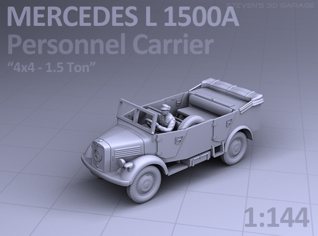 Mercedes L 1500 A - PERSONNEL CARRIER in Smooth Fine Detail Plastic