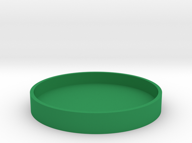 Okito Box Lid British 2 Pound in Green Processed Versatile Plastic