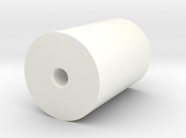 2537-14 Exhaust Stack in White Processed Versatile Plastic
