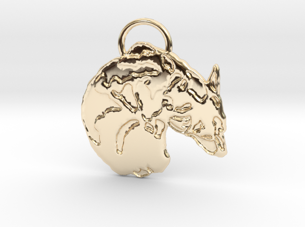 Corgi Croissant (with ring ) in 14k Gold Plated Brass