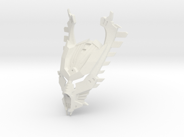 [Titan] Kanohi Kihore in White Natural Versatile Plastic