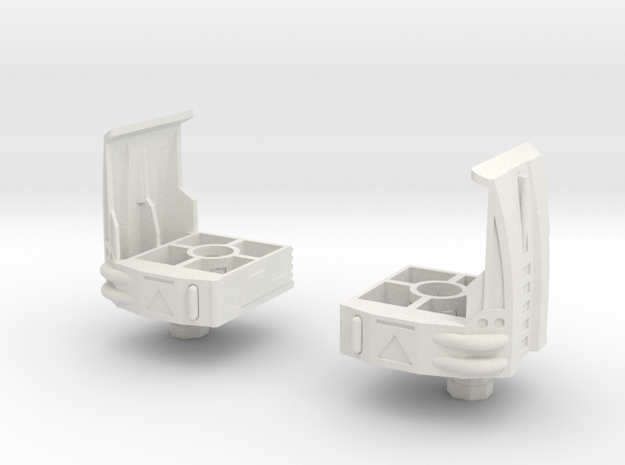 Uranos Thighs V4--THIGHS ONLY in White Natural Versatile Plastic