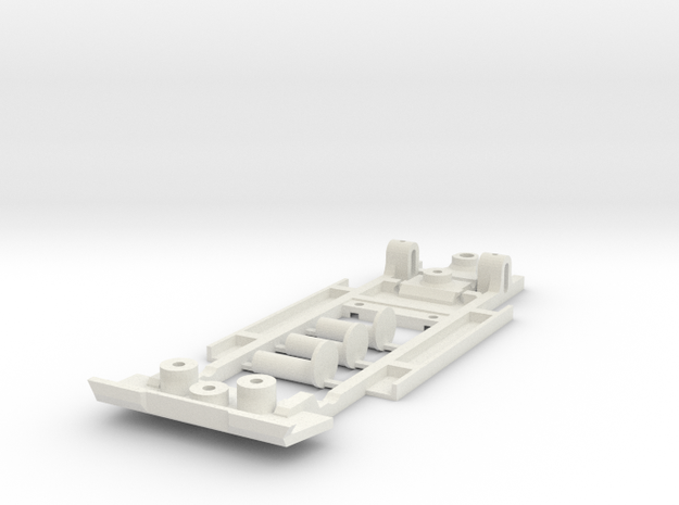 Chassis for Scalextric 1970 Camaro in White Natural Versatile Plastic
