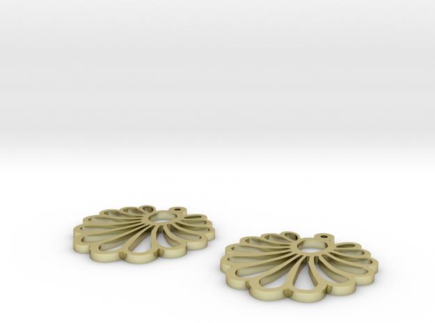shell earrings in 18k Gold
