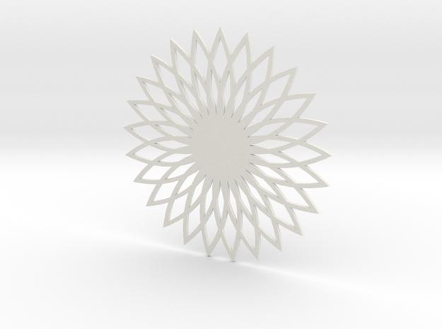 Coaster_5 in White Natural Versatile Plastic