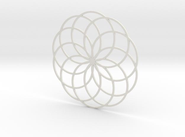 Coaster_6 in White Natural Versatile Plastic