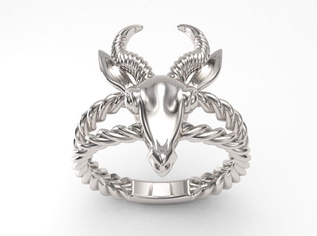 Antelope Head Ring