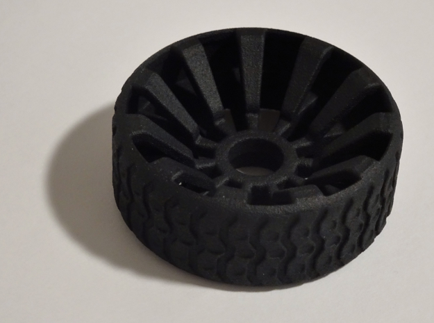 2 Inch Airless Tire for Use with 1/2 Inch Bearing in Black Strong & Flexible