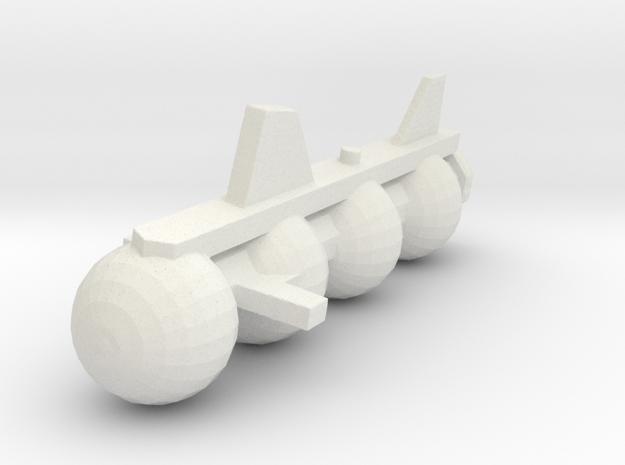 NTMFA Cetacean Submersible in White Natural Versatile Plastic