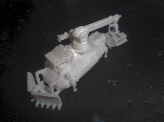 MG144-Aotrs20 Tomb Guardian Engineering Vehicle in White Natural Versatile Plastic