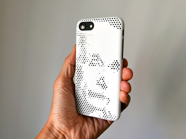 IPhone 7 Case Albert Einstein in White Strong & Flexible Polished