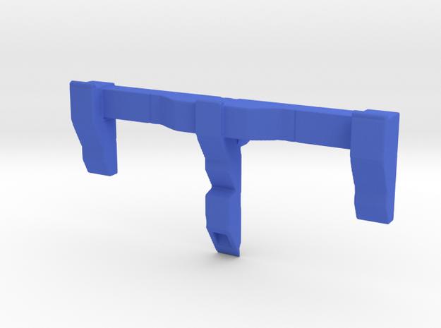 CW to G1 Magnus Chest Wing Short Peg in Blue Processed Versatile Plastic