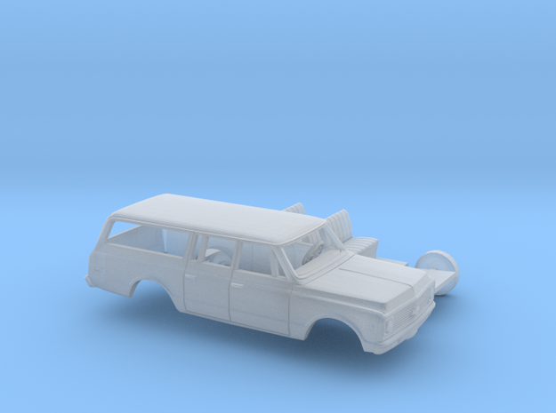 1/160 1971-72 Chevrolet Suburban Kit in Smooth Fine Detail Plastic