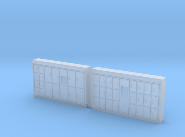 N Scale Bagage Lockers in Smooth Fine Detail Plastic