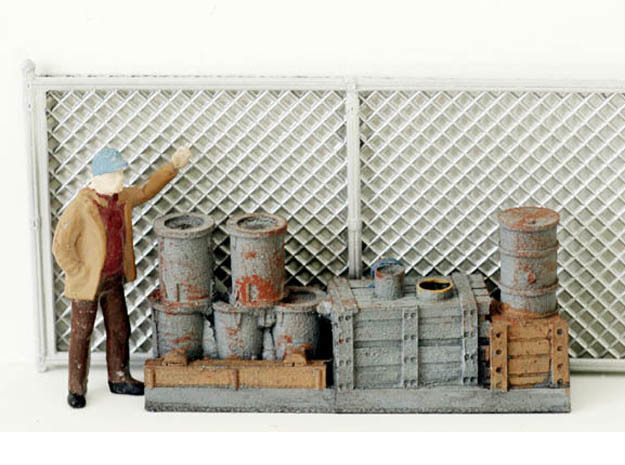 Chain Link Fencing HO Scale in Smooth Fine Detail Plastic