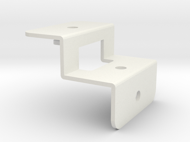 Tamiya RC Front Body Stay for Willy's Wheeler in White Natural Versatile Plastic