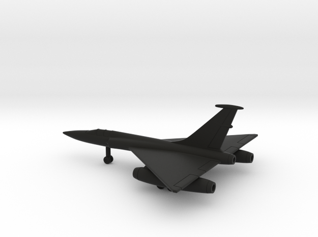 Martin XB-68 (Provisional) in Black Natural Versatile Plastic: 6mm