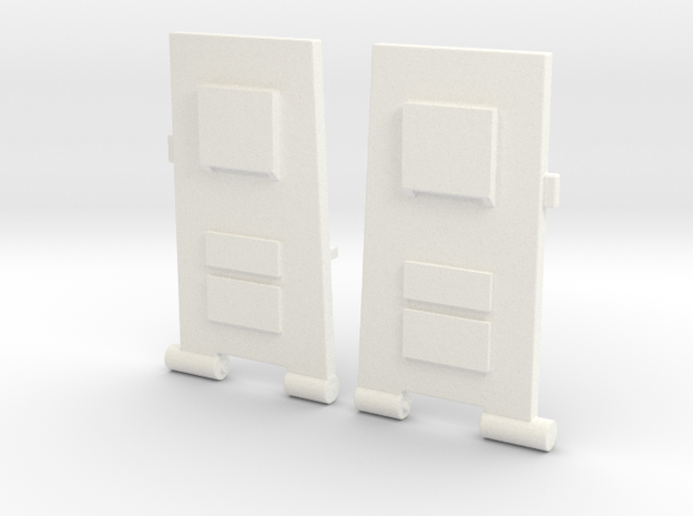 CW to G1 Magnus Legplates in White Processed Versatile Plastic