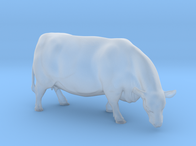 1/64 Polled Grazing Cow Right Turn in Smooth Fine Detail Plastic