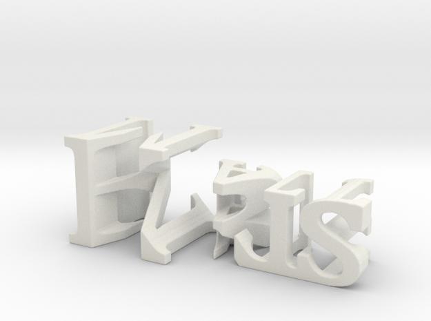 3dWordFlip: Kris/Matt in White Natural Versatile Plastic