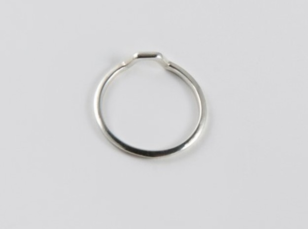 BETTER HALF Ring(HEXAGON), US size 11 d=20,5mm in Polished Silver: 11 / 64