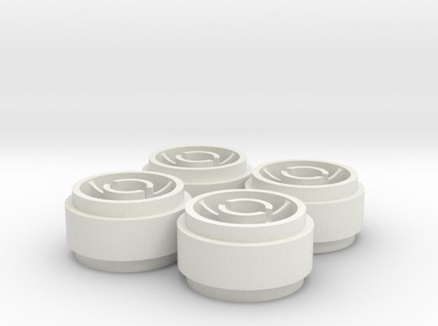 4 Mini-Z SIPT29 / F22 Wheelset +0 offset  in White Natural Versatile Plastic