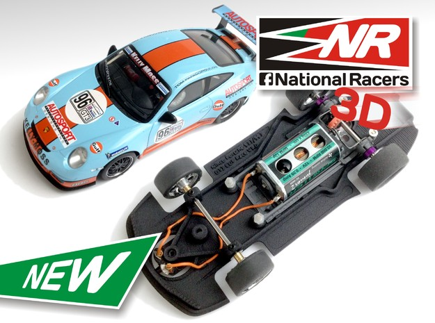 3D Chassis - Ninco Porsche 997 GT3 CUP (Combo)