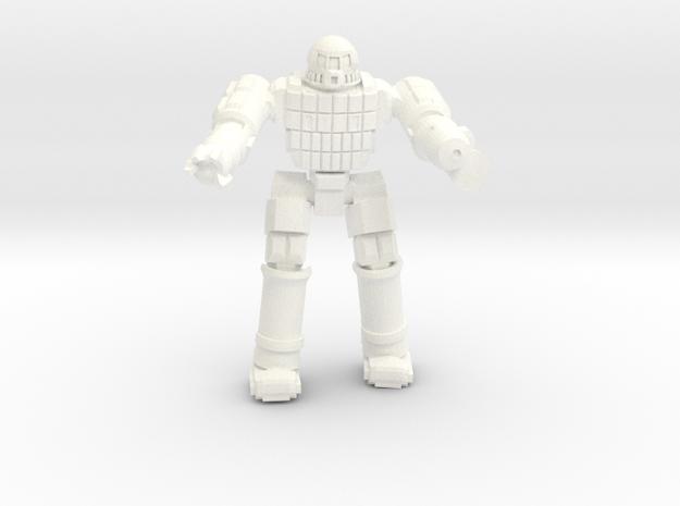 Ares IV Battlesuit  (Pose 3) in White Processed Versatile Plastic
