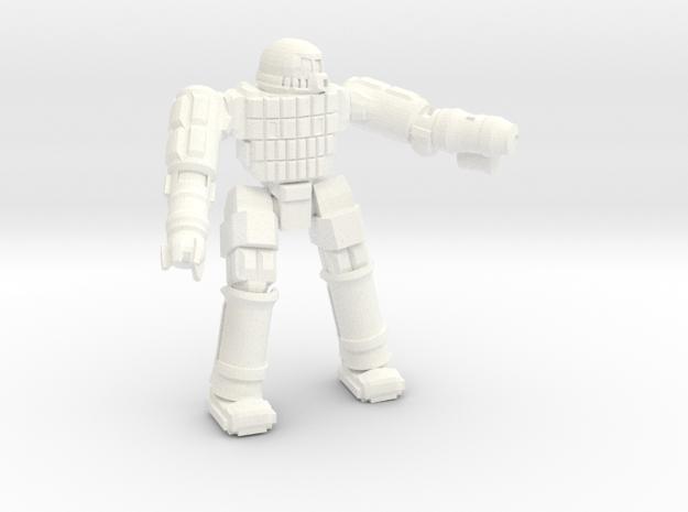 Ares IV Battlesuit  (Pose 2) in White Processed Versatile Plastic