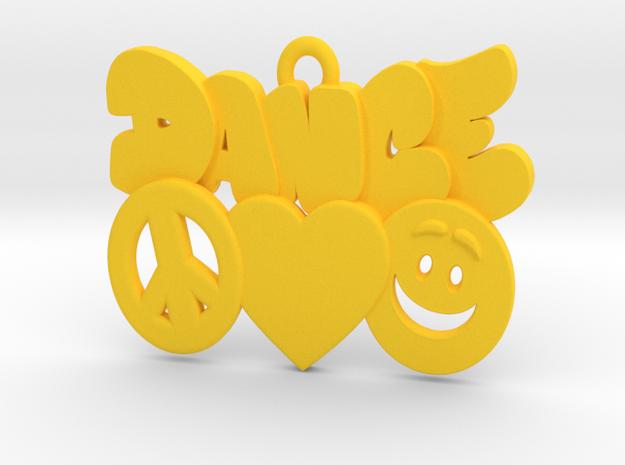 31-PLH-icons-DANCE in Yellow Processed Versatile Plastic: Medium