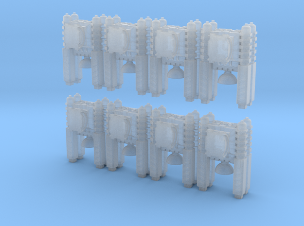 Quad Cannon Assembly of 8 in Smoothest Fine Detail Plastic