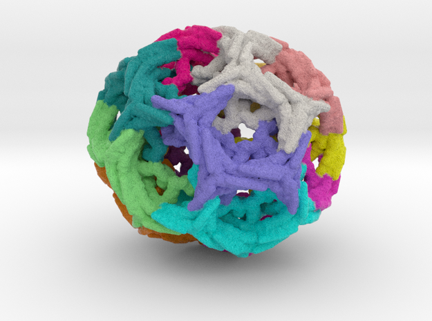 Clathrin Cage (1XI4) in Full Color Sandstone