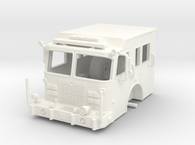 1/64-Scale Fire Apparatus Cab in White Processed Versatile Plastic
