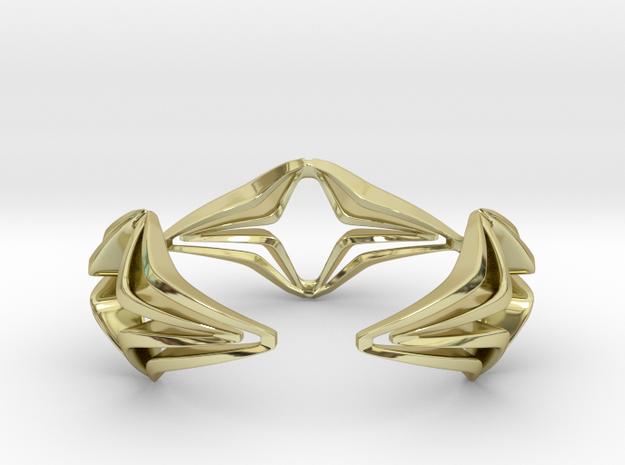 Youniq Edge Bracelet  in 18k Gold Plated Brass: Medium