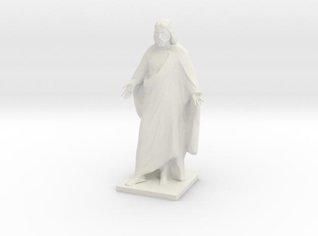 Jesus christ figurine in White Natural Versatile Plastic