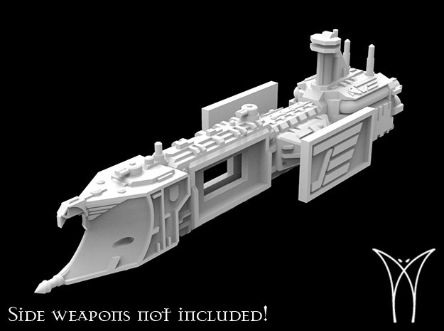 Razor class Cruiser Hull in White Natural Versatile Plastic