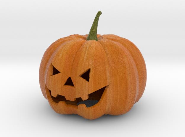Sandstone Color Halloween Pumpkin in Full Color Sandstone
