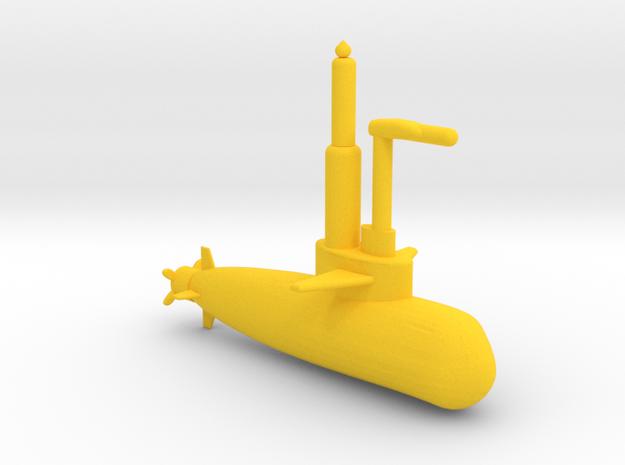 Submarine in Yellow Processed Versatile Plastic