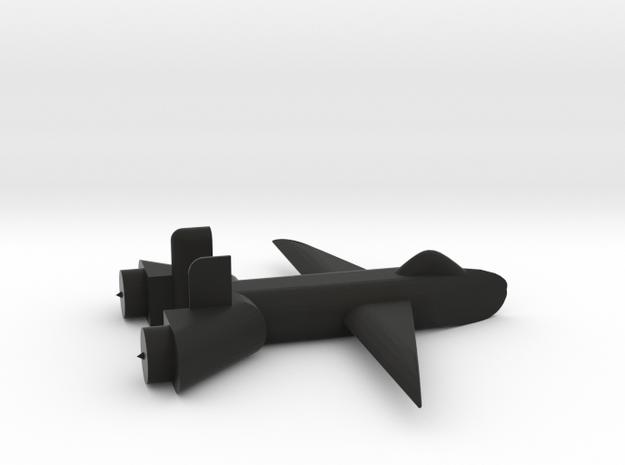 Jet no landing gear in Black Natural Versatile Plastic
