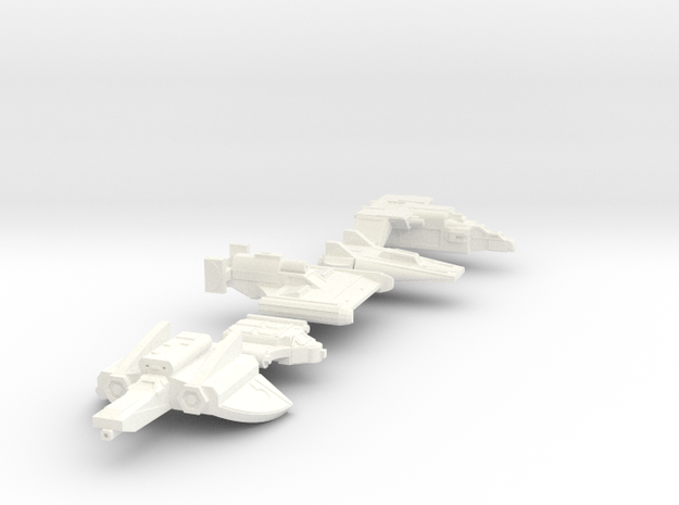 Colony Castings Combined Set 2 in White Processed Versatile Plastic
